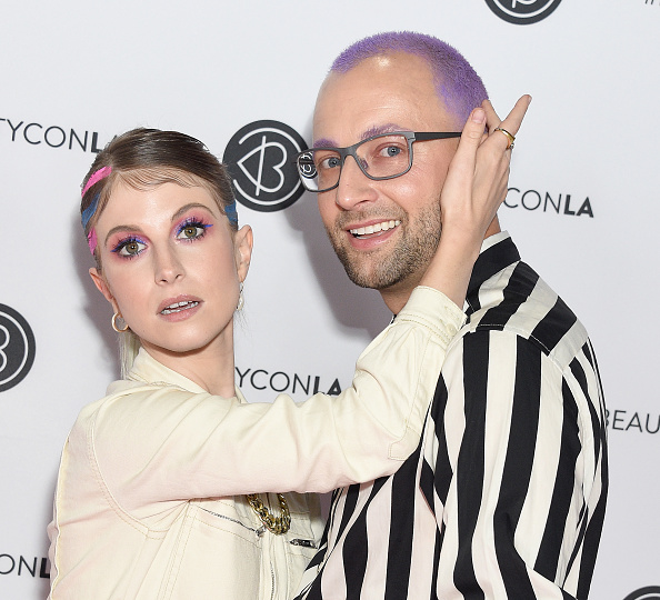 LOS ANGELES, CA - AUGUST 11: Hayley Williams and Brian O'Connor attend Beautycon Los Angeles 2019 Day 2 Pink Carpet at Los Angeles Convention Center on August 11, 2019 in Los Angeles, California. (Photo by Gregg DeGuire/FilmMagic)